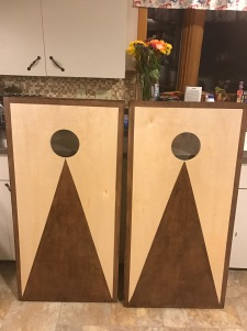 stained boards